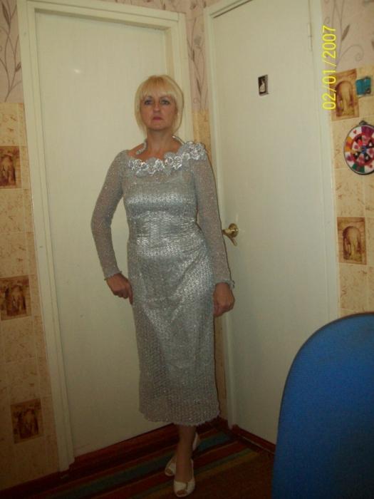 моя работа связана крючком вечернее платье