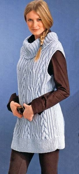 long pullover knitting