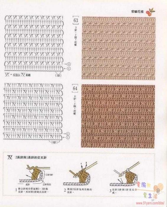 Бесплатные схемы вязания крючком: узор. вязание крючком узоры для.