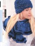 Схема вязания крючком шарф шапочка.
