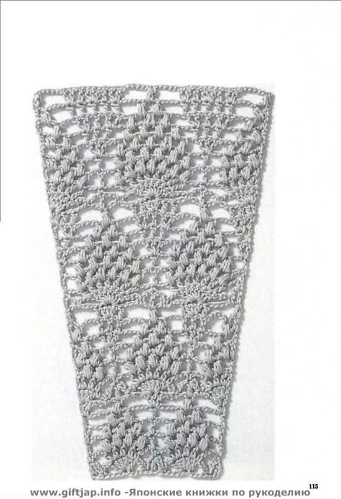 Схемы к юбкам с расширением полотна к низу (вязание крючком).  Прочитать целикомВ.
