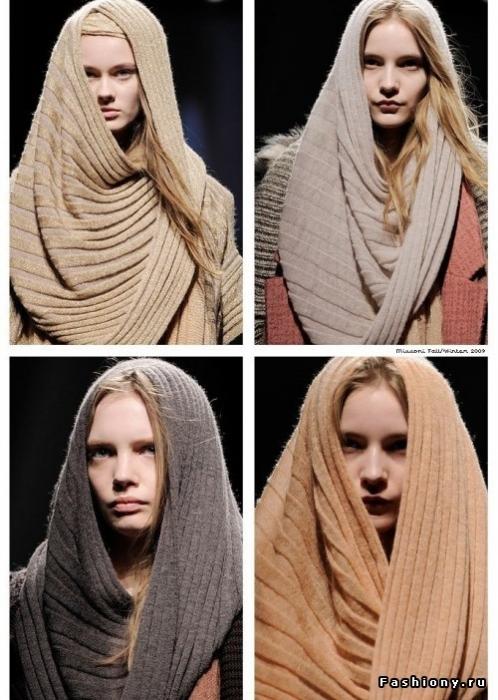шарфы- снуд