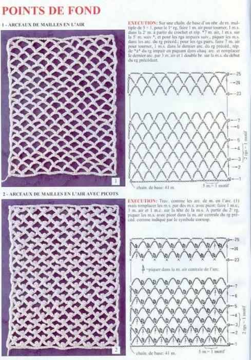 Узоры для сеток со схемами.