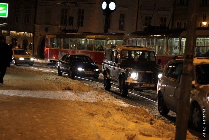Автодороги в центре Праги