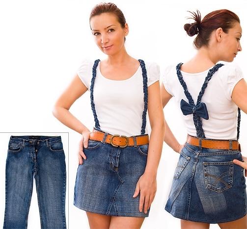 Джинсовая юбка сшить из старых джинсов 18