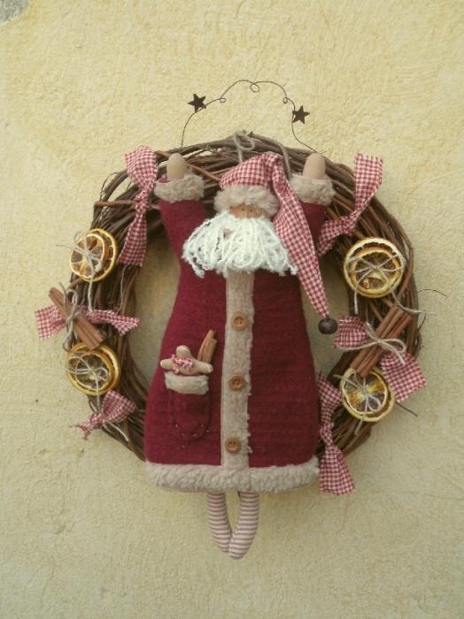 Рождественские тильдНовогодние игрушки еСиловой кабель своими руками