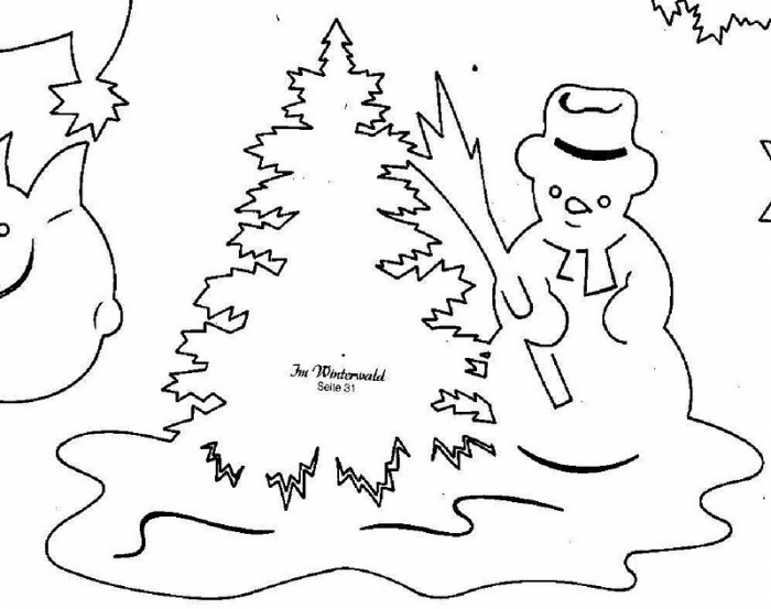 Украшать окна - старая добрая новогодняя традиция.  Предложите ребенку повырезать вместе вытынанки для окошек...