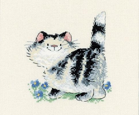 Схемы вышивки крестиком - веселые котики.