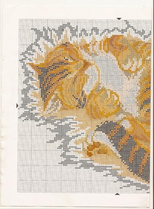 """Схема и картинка подушки  """"Кот """", очень актуальная схема.  Актуально.  Вышитая подушка  """"Кот """" ."""