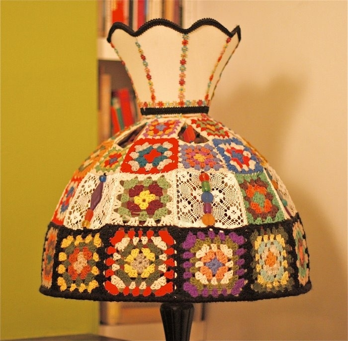 Free Pattern Crochet Lampshade : crochet and knitting lamp shade ideas and tutorial ...