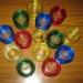 Разноцветные гелевые свечи
