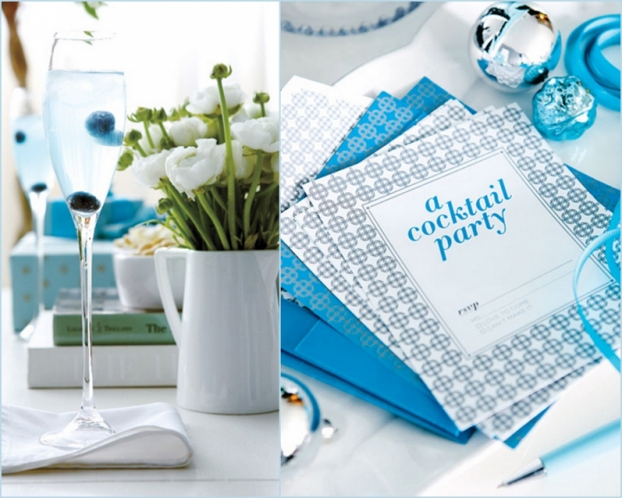 Палитра Нового года: голубой и синий - 58 идей декора.