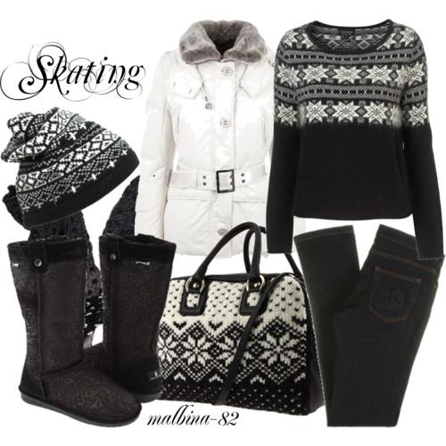 Теплая зимняя одежда - длинный мех, овчина, шерсть и пух.