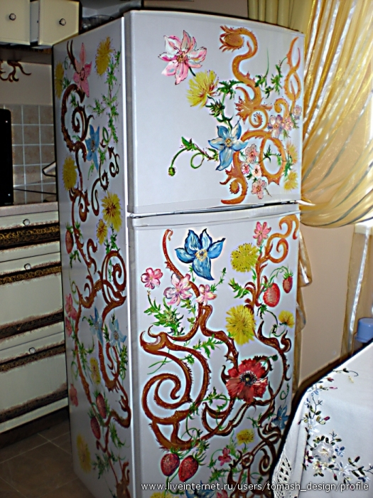 Покрасить шкаф акриловой краской своими руками 31