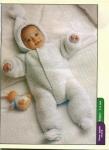 вязание крючком комбинезонов для новорожденных.