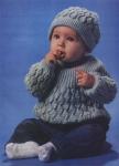 МамаСила: 0). Детское вязание.  Кофточка и шапка.  Возраст.
