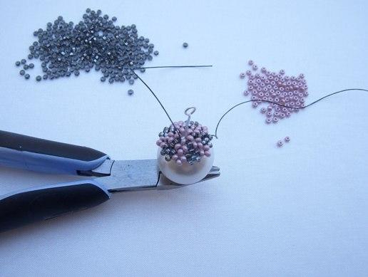 Схема плетения березы из бисера.