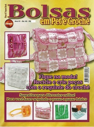 plastic and recycling: crochet magazines