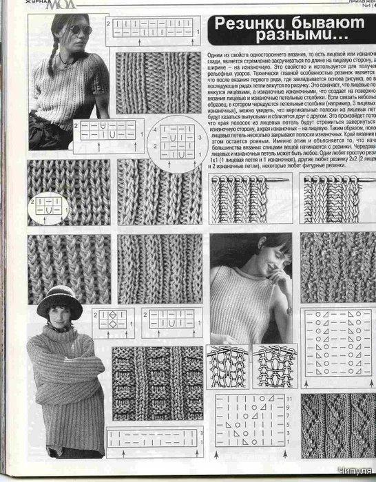 косые узоры вязания спицами.