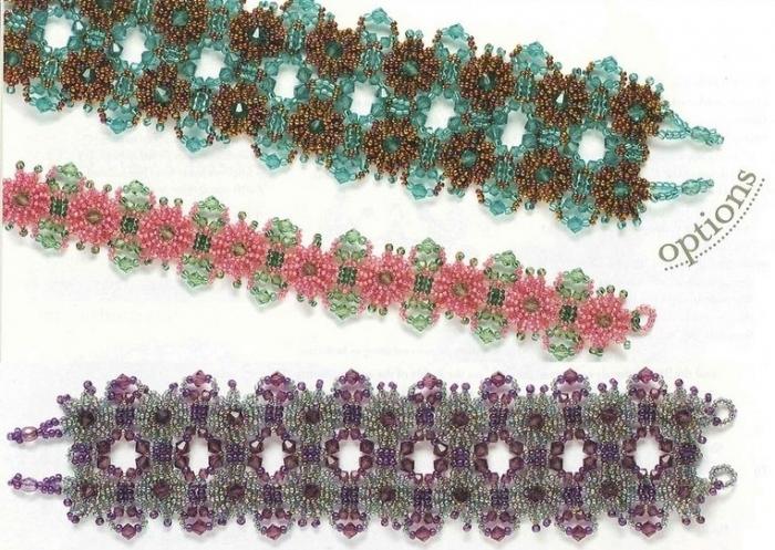 виды браслетов из бисера - Лучшие схемы и описания для Вас.