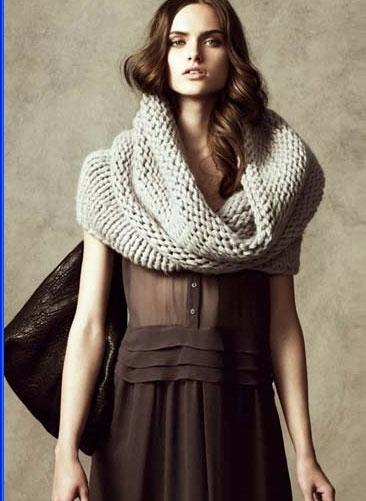 4 фев 2014 шарф хомут спицами