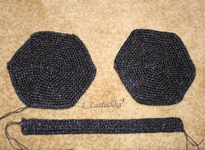 Основание сумочки (2 детали) + боковая часть
