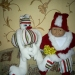 На Новый год - дед мороз (только костюм) и снеговик