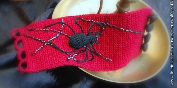 Браслетик с пауком. Идея.1