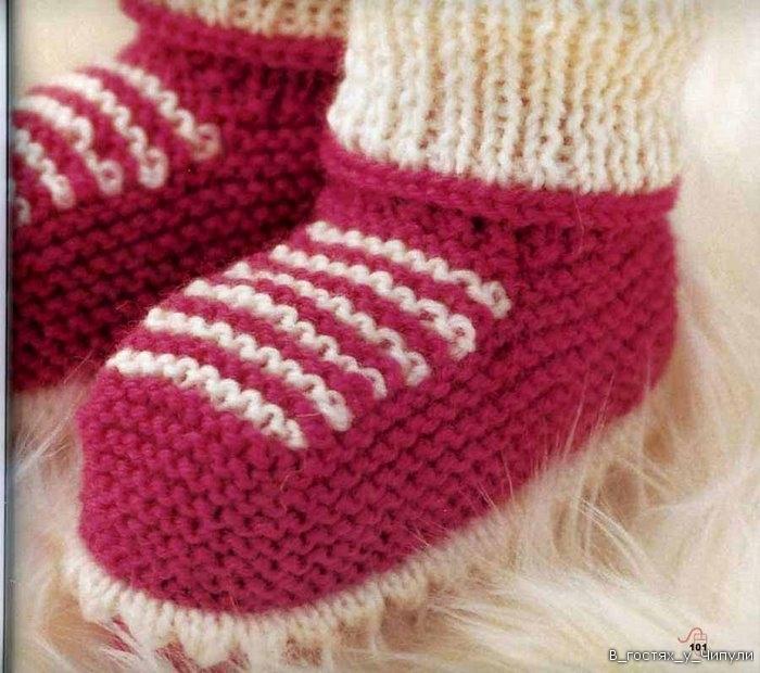 Вязание спицами носков для. вязание спицами носков для новорожденных .  Все для вязания и. Вязание для детей...