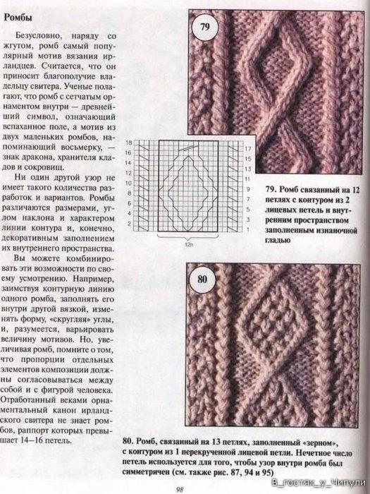 Узоры кос и жгутов спицами - Модное вязание Араны. - Pinterest 83