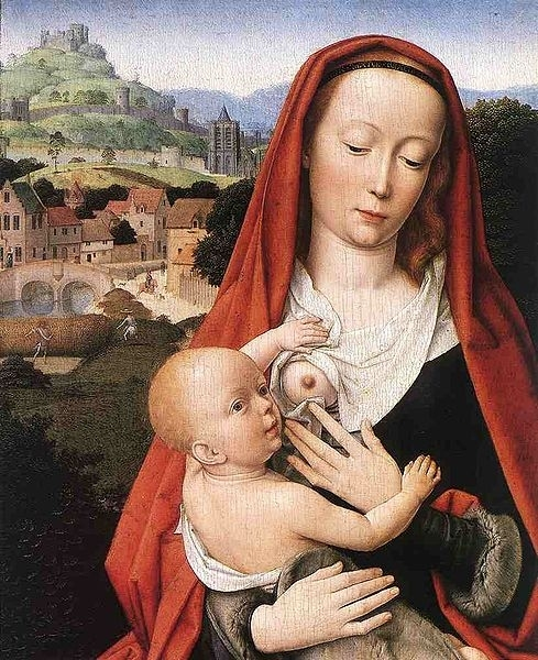 Mary and Child (detail) Oil on wood Staatliche Museen, Berlin  Date	 1490