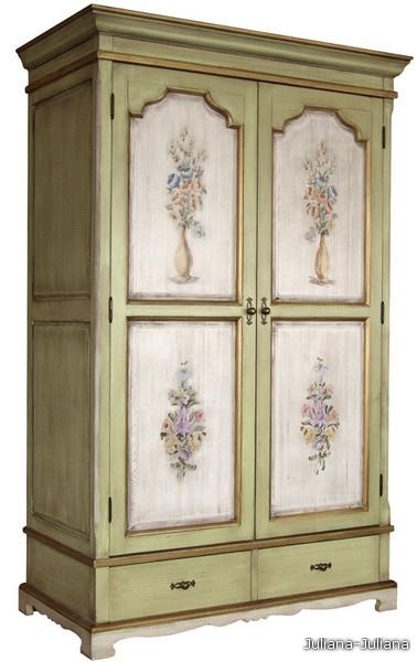 шкаф для одежды в стиле кантри (дуб.
