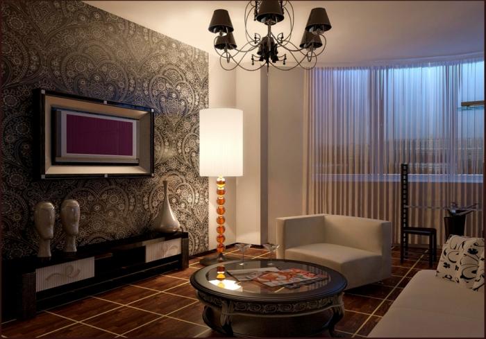 Дизайн прямоугольной гостиной 18 кв.м