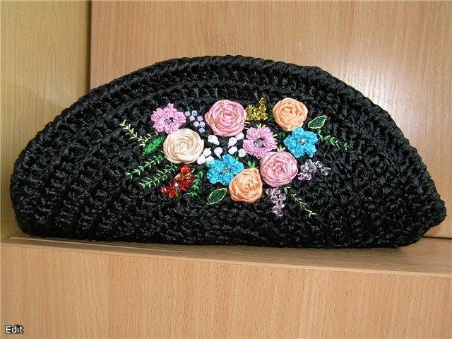 вязание сумок из атласных лент - Сумки.