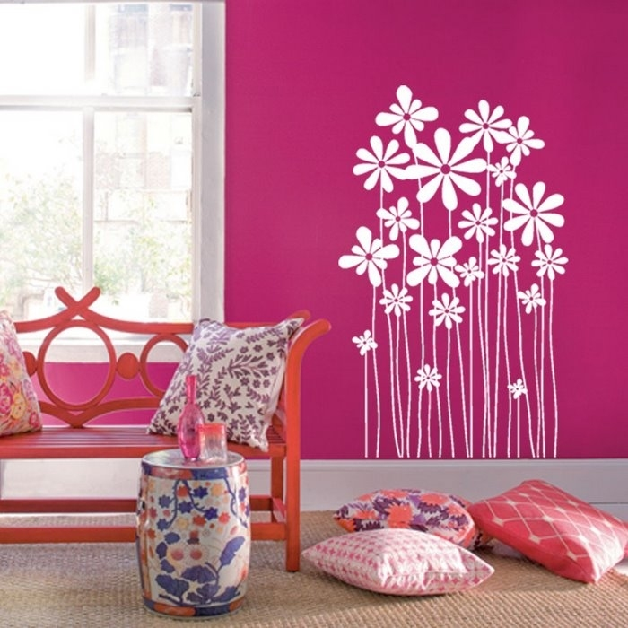 Декор стен спальни своими руками цветы