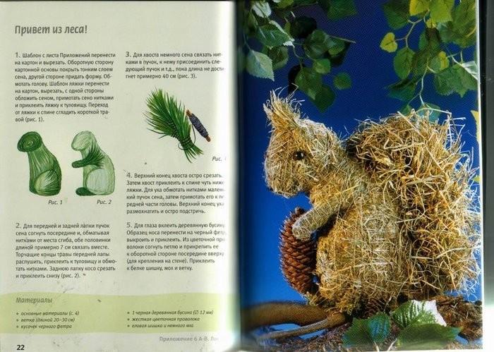Как сделать поделку животного из природных материалах