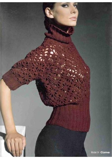 Вязание крючком и спицами: свитера, пуловеры, жакеты, кардиганы.
