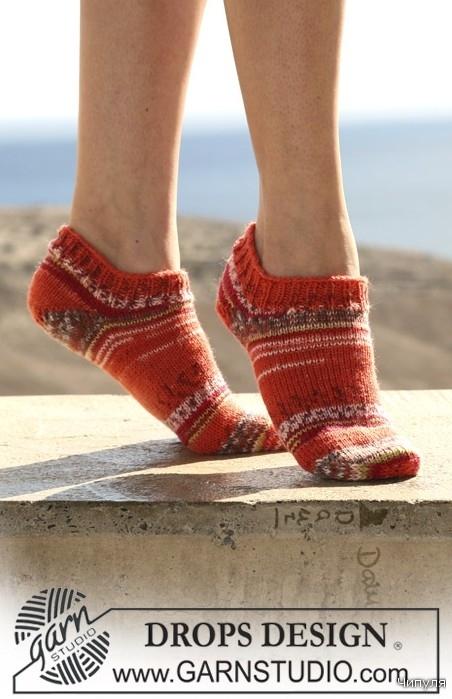 Схема вязания двойной пятки носков