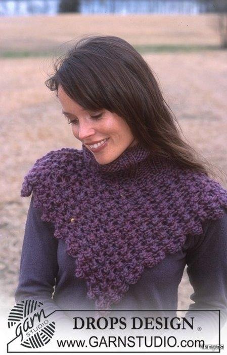 Вязание манишки.
