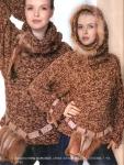 12.Пальто с капюшоном. .  Вязание на спицах Knitting. .  Пряжа букле.