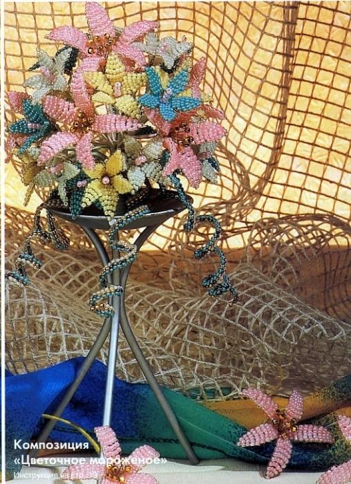 Из бисера плетут браслеты, кольца, серьги, другие аксессуары.  Есть разные приемы низания бисера и стекляруса...