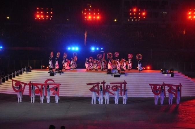 Церемония открытия Кубка мира по крикету, Дакка, Бангладеш, 17 февраля 2011 года.