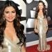 Молодая звёздочка Селена Гомес (Selena Gomez), которая пришла поддержать своего бойфренда Джастина Бибера (Justin Beiber), выбрала для красной ковровой дорожки Grammy-2011 красивое серебристое вечернее платье от марки J. Mendel.