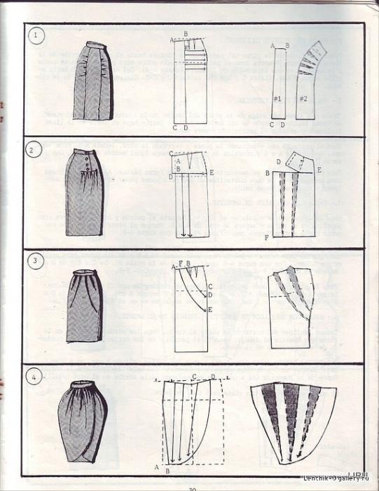 Выкройка юбка тюльпан