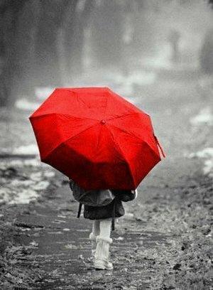 черно белое красное фото