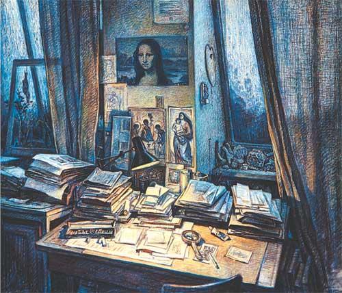 Владимир Емельянов В мастерской художника 1997 г.