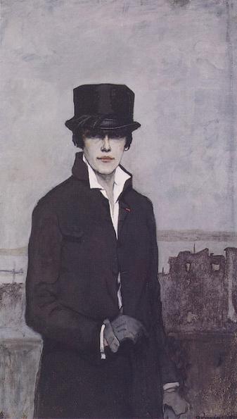 Романа Брукс Автопортрет 1922 сж (337x595, 32Kb)