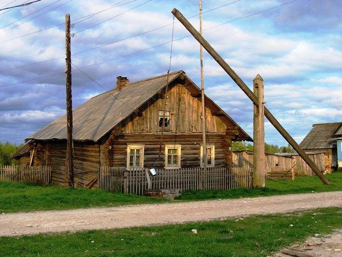 картинка в деревне у колодца высокий журавль там понял, что