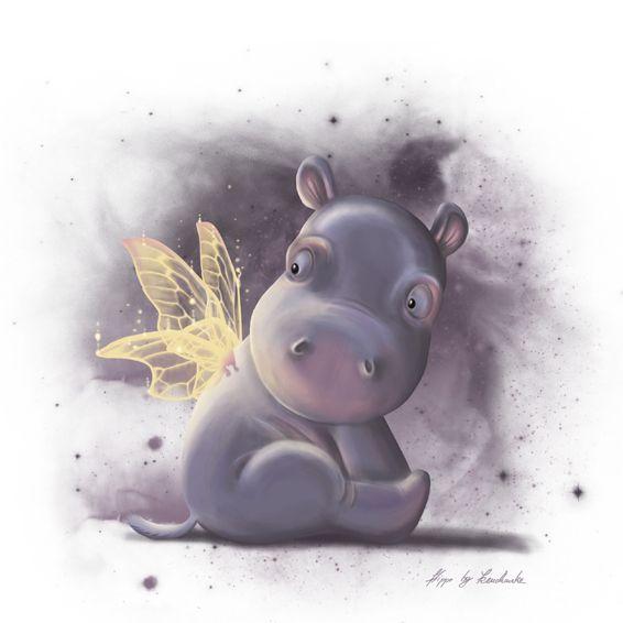 Сделать картинку, с днем рождения открытка с бегемотом