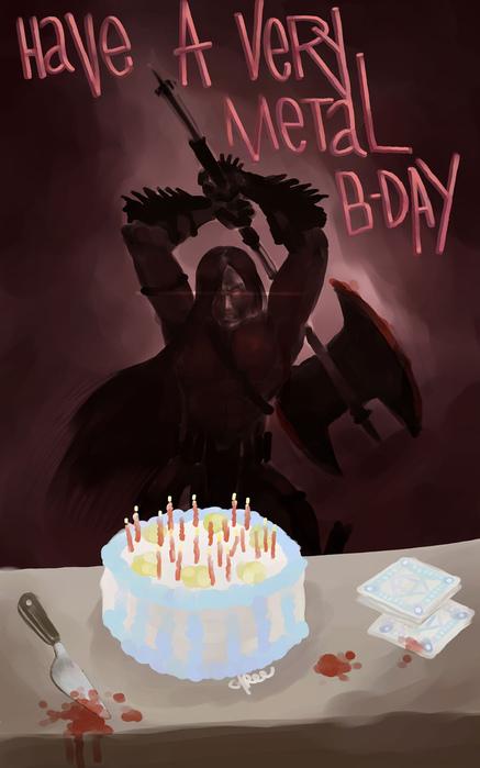 Картинки с днем рождения металлисту
